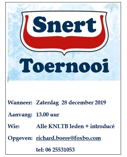 Snert toernooi 2019